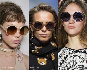 geometrik çerçeveli gözlük