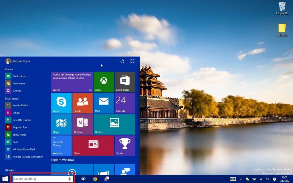 windows 10 arama ekranı resim 3