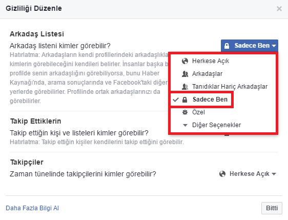 Facebook Arkadaş Listesi Nasıl Gizlenir 3