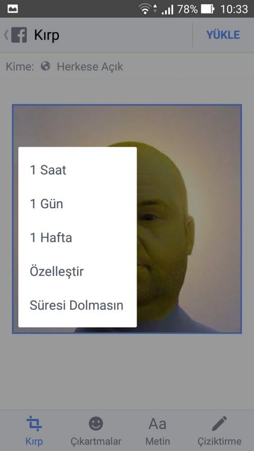 Facebook Geçici Profil Resmi Nasıl Ayarlanır 4