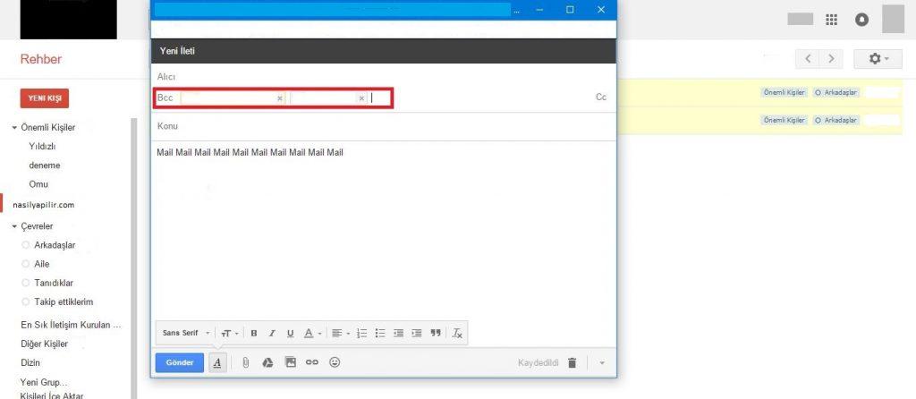 Gmail ile Toplu Mail Gönderme Nasıl Yapılır 7