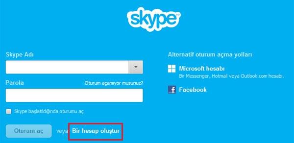 Skype Yeni Hesap Nasıl Açılır1