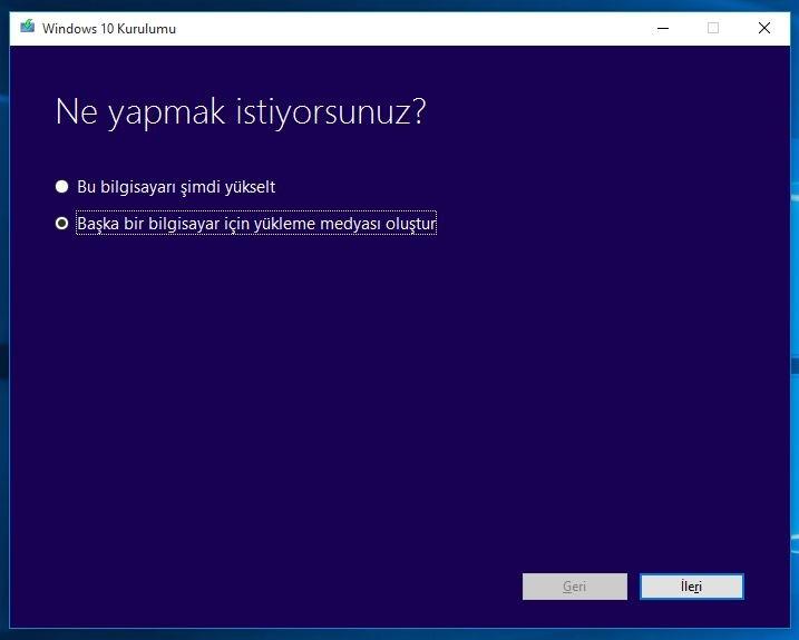 USB Bellekten Üzerinde Windows 10 Nasıl Yüklenir 1