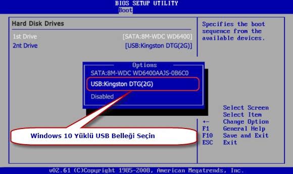 USB Bellekten Üzerinde Windows 10 Nasıl Yüklenir 3