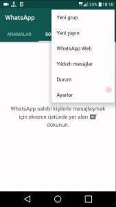 Whatsapp Uygulamasında Durum Güncellemesi Nasıl Yapılır 1