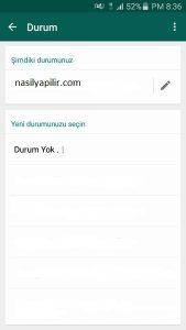 Whatsapp Uygulamasında Durum Güncellemesi Nasıl Yapılır 2