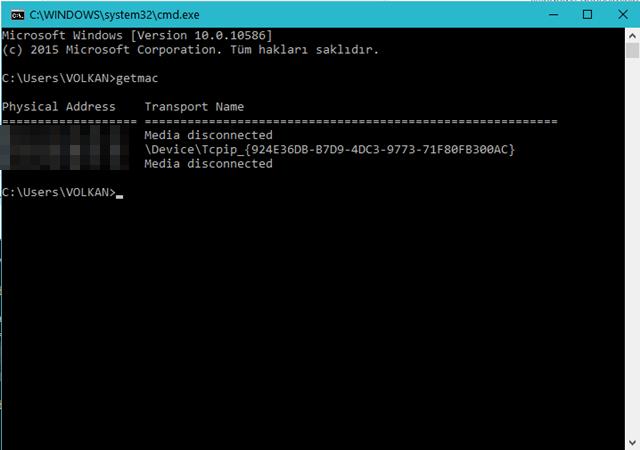 Windows 10 İşletim Sisteminde MAC Adresi Nasıl Değiştirilir 4