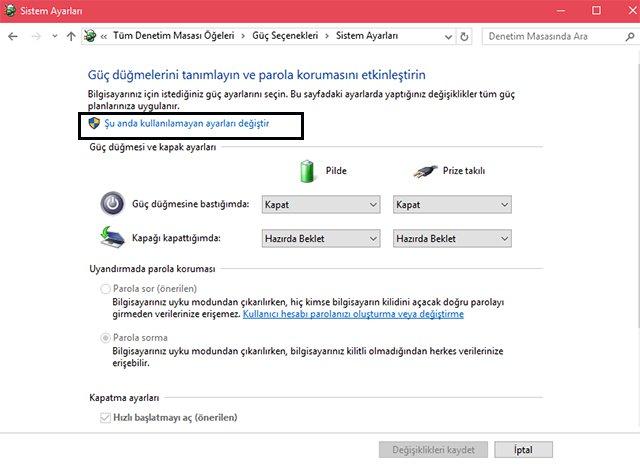 Windows 10 Uyanırken Parola Sorma Nasıl İptal Edilir 3