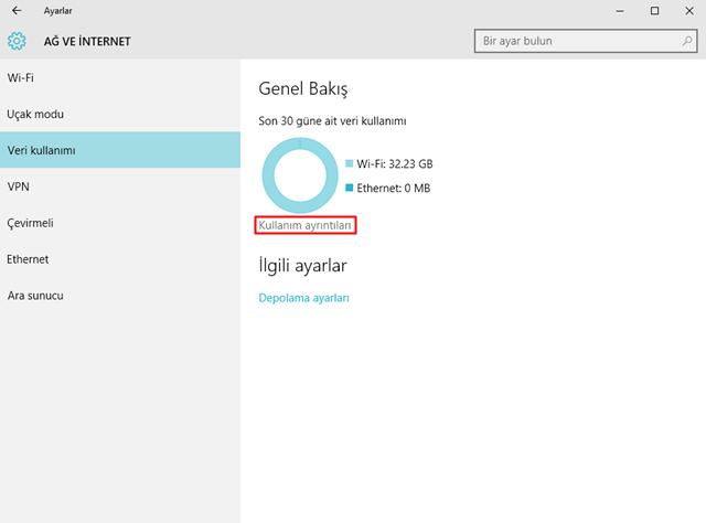 Windows 10'da Uygulamaların Veri Tüketimlerine Nasıl Bakılır 3