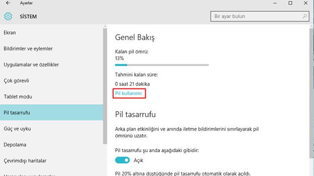 Windows 10'da Uygulamalar Ne Kadar Pil Tüketiyor 2