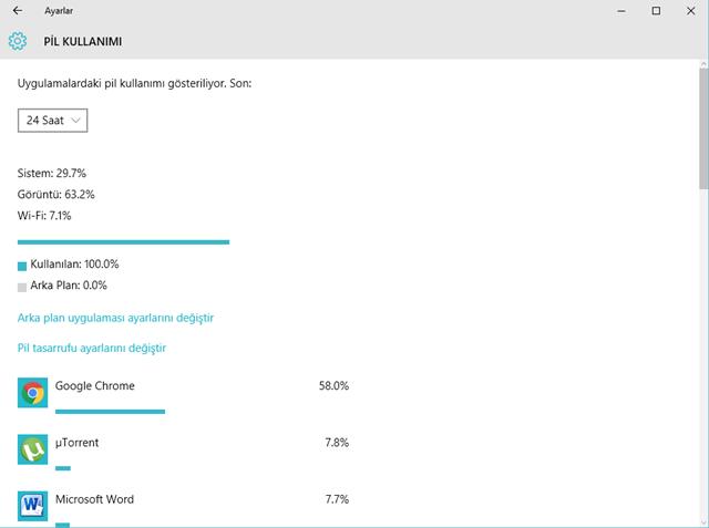 Windows 10'da Uygulamalar Ne Kadar Pil Tüketiyor 3