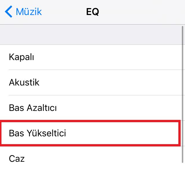 iPhone yada iPad'de Kulaklık için Bas Ayarı Nasıl Yapılır 3